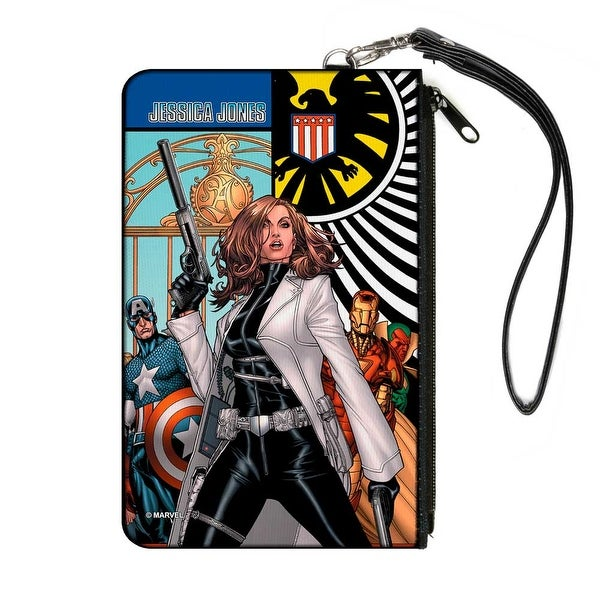 What If Jessica Jones Had Joined The Avengers? Issue #1 Cover Pose Shield Canvas Zipper Wallet