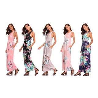 Lilly Posh Floral Maxi Dress In Multiple Colors