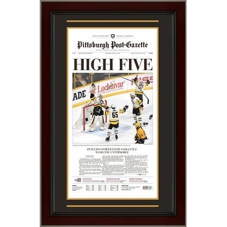 Pittsburgh Penguins 2017 Stanley Cup Hockey Champions Post Gazette Framed Newspaper