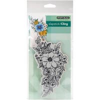 "Penny Black Cling Stamp 5""X7""-Flower Cascade"