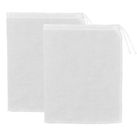 Kitchen Tool Cotton Blends Coffee Juice Soup Filter Bag White 36 x 28cm 2pcs