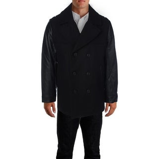 Elie Tahari Mens Coat Wool Double Breasted - M