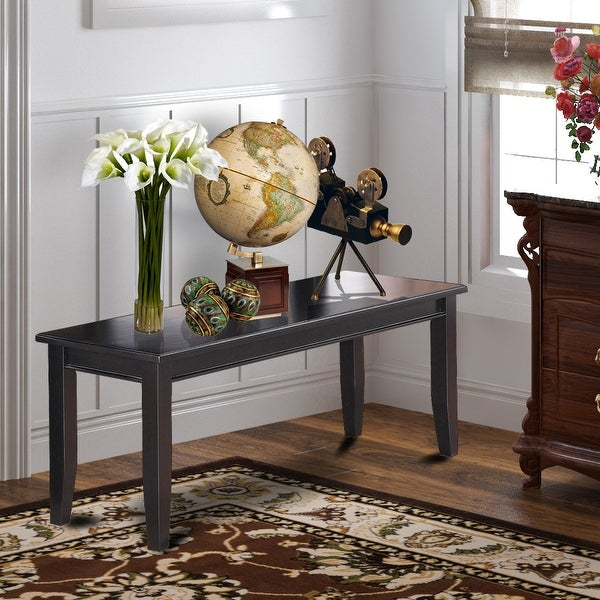 East West Furniture Backless Dudley Dining Bench with Wood Seat (Finish Option). Opens flyout.