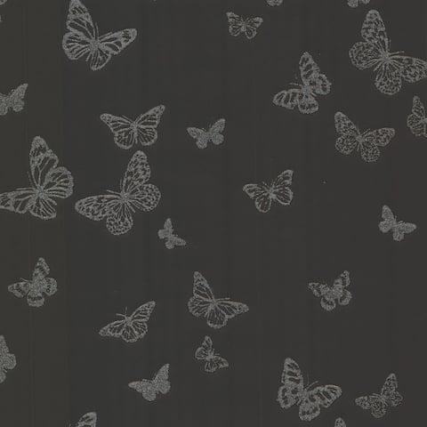Butterfly Black Pearl Wallpaper - 20.5in x 396in x 0.025in