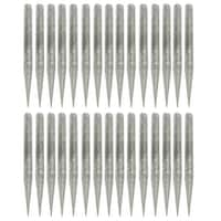 Unique Bargains 30 Pcs 3mm Diameter 1.8  Length Taper Tip Diamond Point Grinding Drill Bits