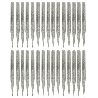 Unique Bargains 30 Pcs 3mm Diameter 1.8 Length Taper Tip Diamond Point Grinding Drill Bits