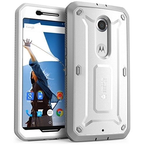 new styles 9f2eb 9bb04 Nexus 6 Case, SUPCASE, Unicorn Beetle PRO Series,with Screen Protector,  Holster Case for Google Nexus 6-White/Gray