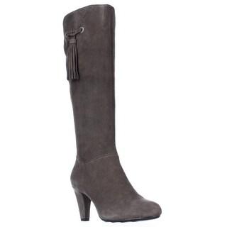 Bandolino Bacia Tassle Fringe Tall Boots - Medium Gray