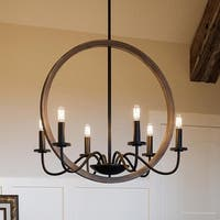 "Luxury Modern Farmhouse Chandelier, 24.75""H x 22""W, with English Country Style, Olde Bronze Finish by Urban Ambiance"