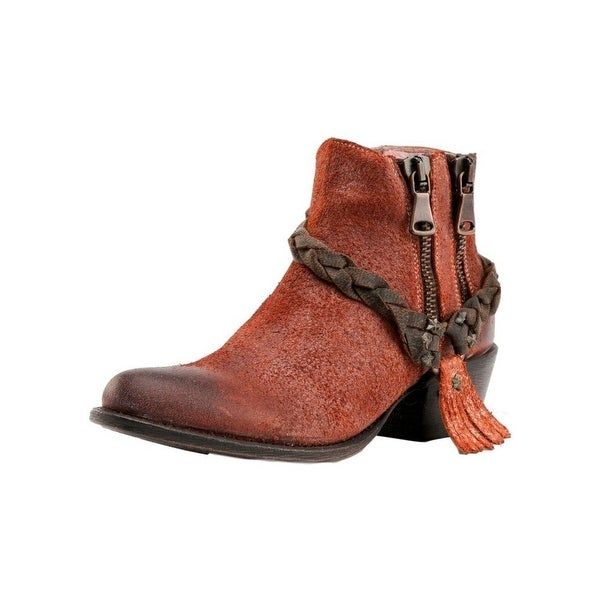 Miss Macie Fashion Boots Womens Brash-n-Sassy Braided Red
