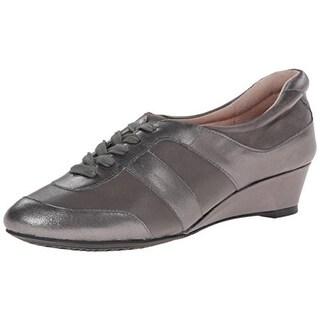 Taryn Rose Womens Parisa Leather Wedges Fashion Sneakers - 10 medium (b,m)