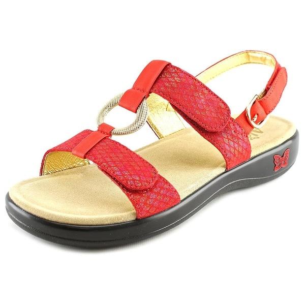 Alegria Julie Women  Open-Toe Leather Red Slingback Sandal
