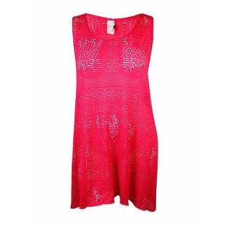 Profile by Gottex Women's Crochet Lace Hi-Low Dress Cover-Up