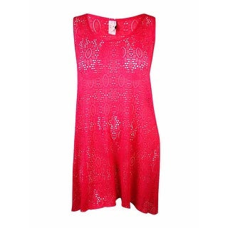 Profile by Gottex Women's Crochet Lace Hi-Low Dress Cover-Up