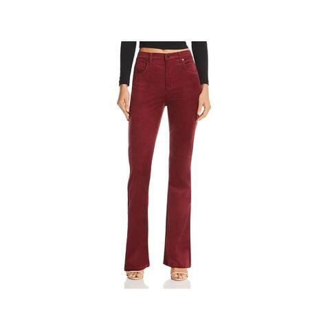 Blank NYC Womens Corduroy Pants High-Rise Flare