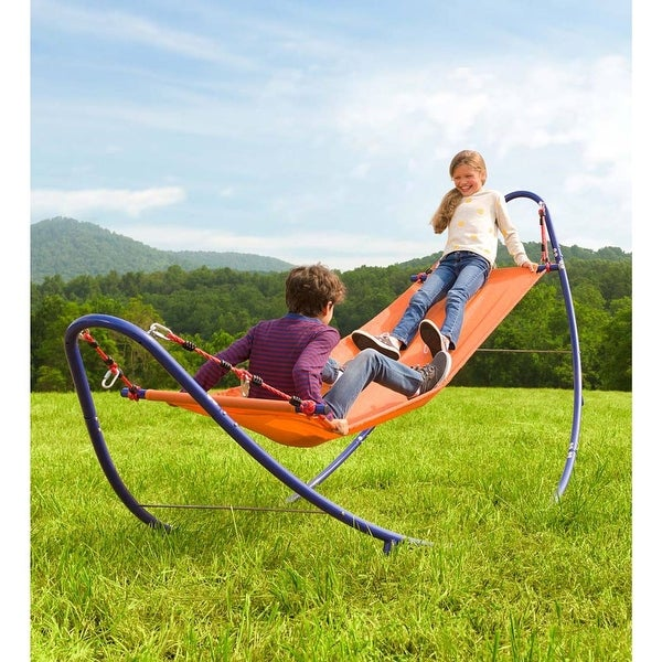 HearthSong 10.75 ft. x 4 ft. Rockin- 2-in-1 Adjustable Hammock - One-Size. Opens flyout.