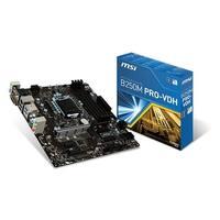 Msi B250m Pro-Vdh Intel B250 Lga 1151 Ddr4 Hdmi Usb 3.1 Micro-Atx Motherboard