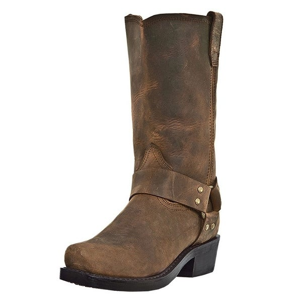 Dingo Motorcycle Boots Mens Dean Harness Crazy Horse Brown