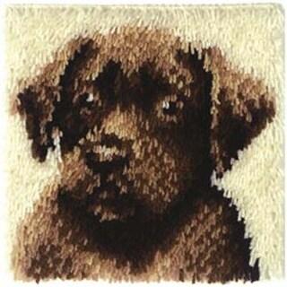 "Chocolate Dog - Wonderart Latch Hook Kit 12""X12"""