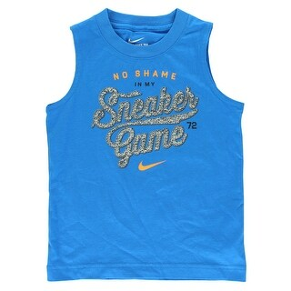 Nike Boys Sneaker Game Tank Top Blue - Blue/Gold