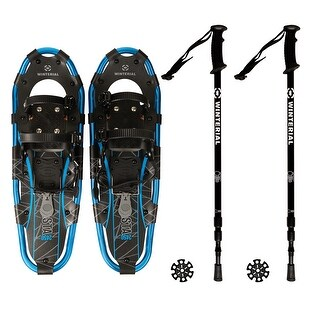 Winterial Shasta Snowshoes I Lightweight Aluminum Snowshoes, Carry Bag With Straps & Retractable Poles Included