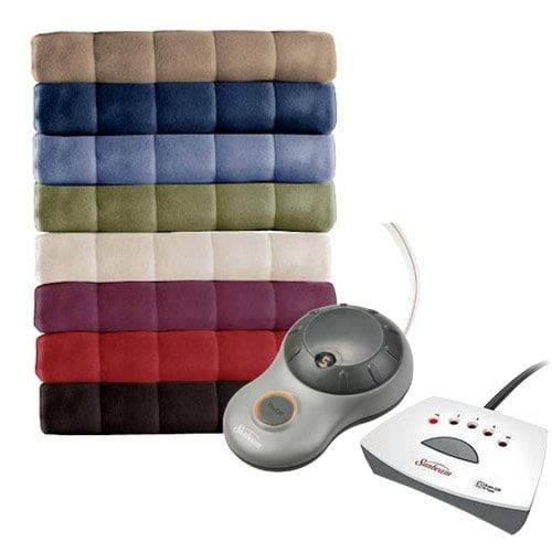 Shop Sunbeam Electric Heated Fleece Blanket Royal Dreams