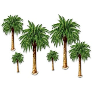Club Pack of 72 Insta-Theme Tropical Luau Palm Tree Photo Props 4'