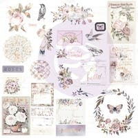 Lavender Frost Ephemera Cardstock & Acetate Die-Cuts 41/Pkg-Shapes, Tags, Words, Foiled Accents