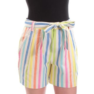 Womens Ivory Striped Short Size 2