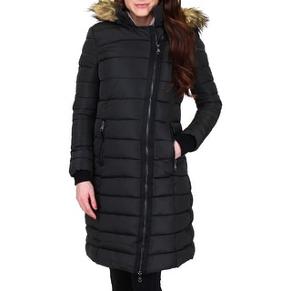 Link to Nanette Nanette Lepore Women's Faux Fur Trim Quilted Puffer Coat Similar Items in Women's Outerwear