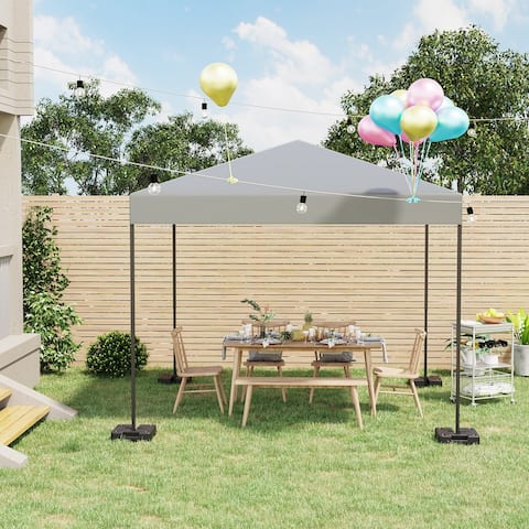 Outsunny 4PCs Plastic Canopy Tent Weights No-Pinch Patio Accessory for Outdoor Instant Shelters
