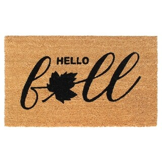 """Link to RugSmith Black Machine Tufted Hello Fall Doormat, 18"""" x 30"""" - 18"""" x 30"""" Similar Items in Decorative Accessories"""