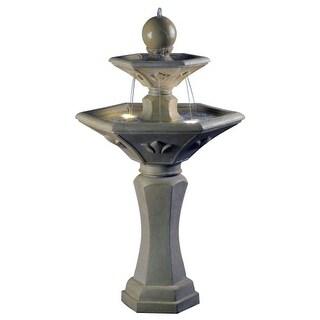 "Kenroy Home 50068 Provence 43"" Tall Solar Powered Lighted Outdoor Floor Fountain"