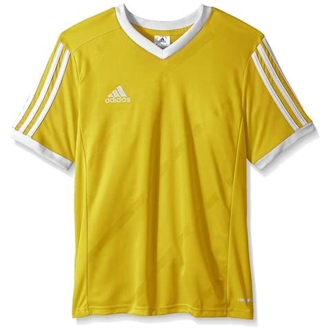 Adidas Boys Tabela 14 Jersey T-Shirt Yellow/White Size Youth - Yellow