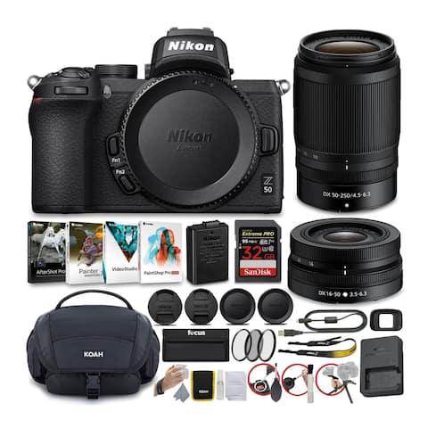 Nikon Z50 Mirrorless Camera with NIKKOR Z 16-50 & 50-250 Lens Bundle