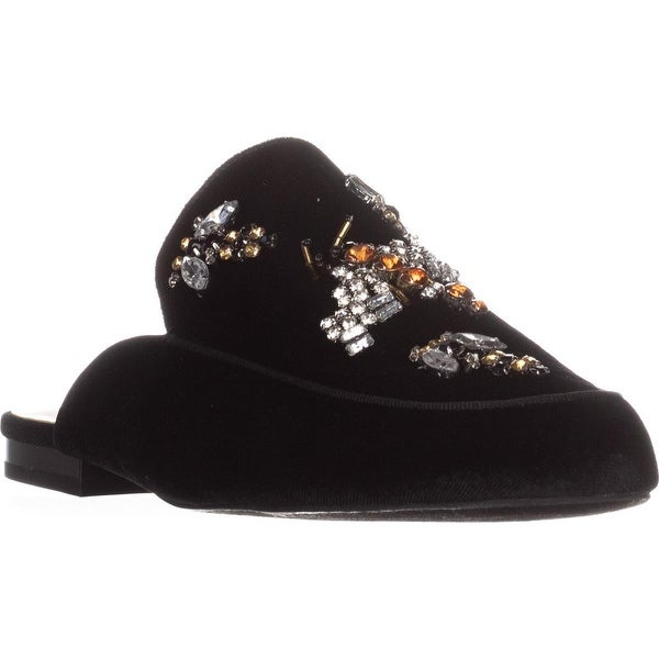 I35 Gannie5 Jeweled Slide Loafers, Black Bug