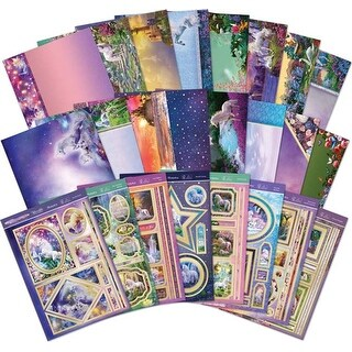 8 A4 Topper Sets - Hunkydory Unicorn Utopia Luxury A4 Topper Collection