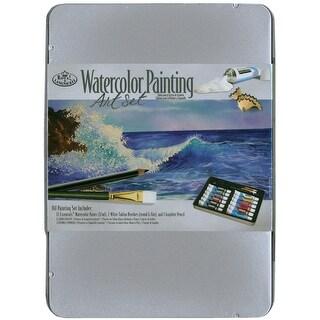 Watercolor Painting Art Set W/Tin-