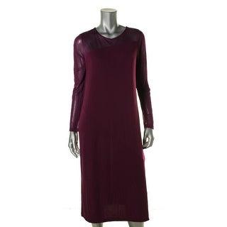 DKNY Womens Matte Jersey Illusion Wear to Work Dress - M