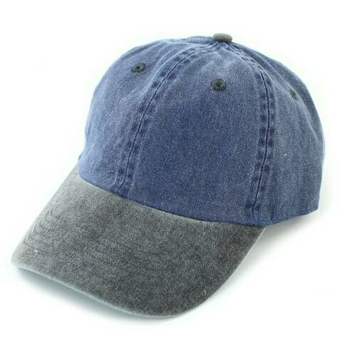 Newhattan Cotton pigment dyed baseball caps with Adjustable strap