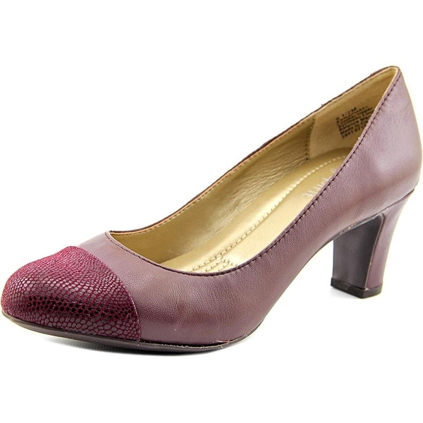 Easy Spirit Womens Raphel Leather Cap Toe Classic Pumps