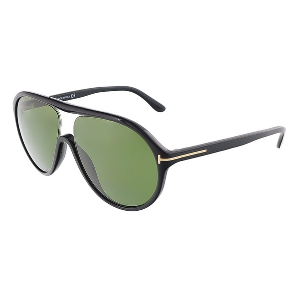 Tom Ford FT0443/S 01N EDISON Shiny Black Oval sunglasses - Shiny Black - 59-12-140