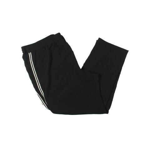 Lauren Ralph Lauren Womens Gionavie Track Pants Mid Rise Stripe