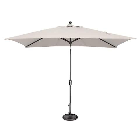 SimplyShade Catalina 6'x10' Rectangle Push Button Tilt Umbrella, Black Frame Finish