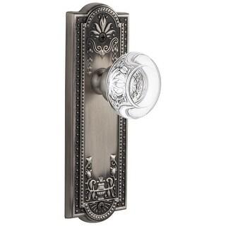 "Grandeur PARBOR_PSG_234  Parthenon Solid Brass Rose Passage Door Knob Set with Bordeaux Crystal Knob and 2-3/4"" Backset"