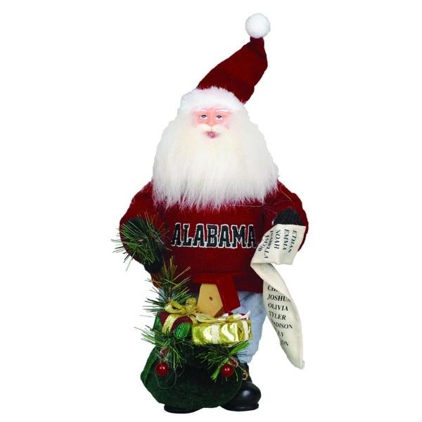 NCAA Alabama Crimson Tide Gift Bearing Santa Claus Christmas Table Top Figure