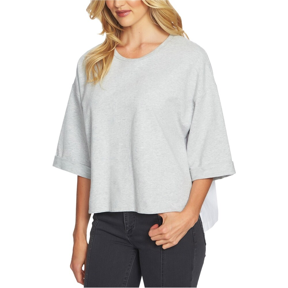 1.State Womens Pleated-Back Pullover Blouse
