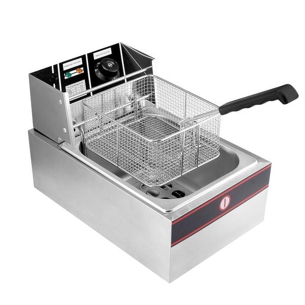 Arksen 2500W 6-Liter Electric Countertop Deep Fryer Adjustable Temp.