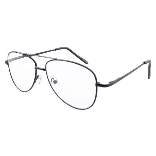 Eyekepper Pilot Style Metal Frame Spring Hinges Reading Glasses Black +1.75