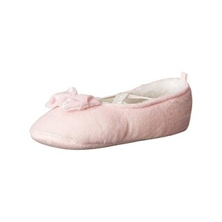 Carters Girls Danza Mary Jane Slippers Faux Fur Lined Faux Fur